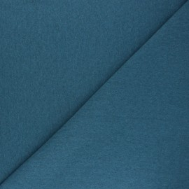 Recycled tubular jersey fabric - mottled swell blue x 10cm