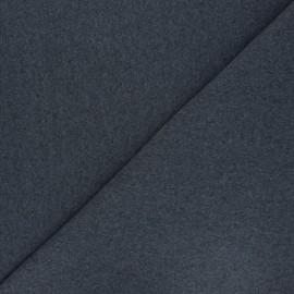 Jersey tubulaire Recyclé 1/1 - gris foncé chiné x 10cm