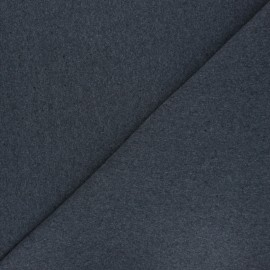 Recycled tubular jersey fabric - mottled dark grey x 10cm