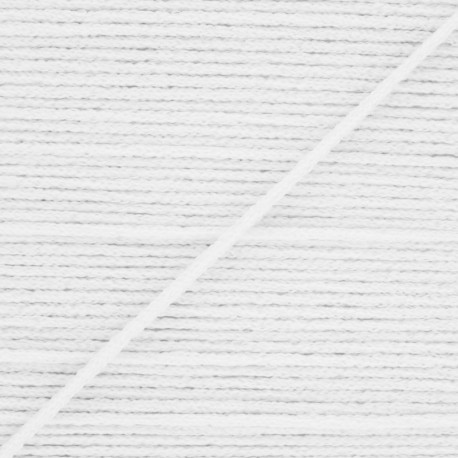 2,5 mm Facemask elastic - White Colorama