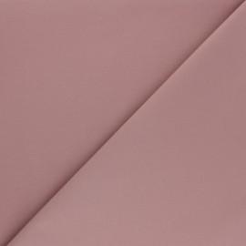 Matte elastane Gabardine fabric - old pink x 10cm