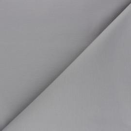 Tissu Gabardine élasthanne mat - gris souris x 10cm