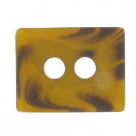 Bouton Laine rectangle caramel