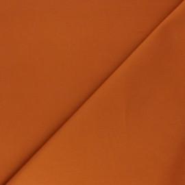 Tissu Gabardine élasthanne mat - roux x 10cm