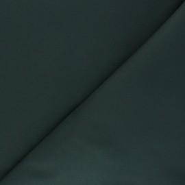 Tissu Gabardine élasthanne mat - vert foncé x 10cm