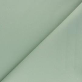 Tissu Gabardine élasthanne mat - vert sauge x 10cm