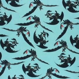 Tissu sweat léger Poppy Dragons - bleu x 10cm