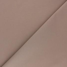 Tissu Gabardine élasthanne mat - taupe x 10cm