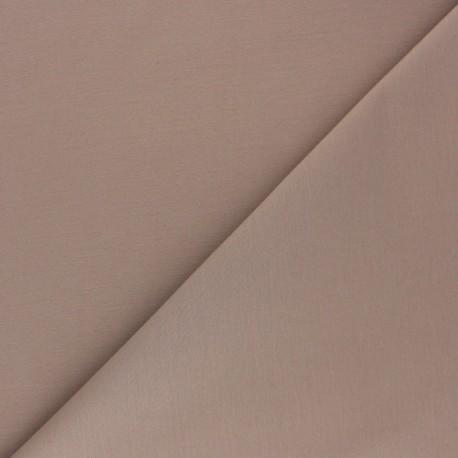 Matte elastane Gabardine fabric - taupe brown x 10cm