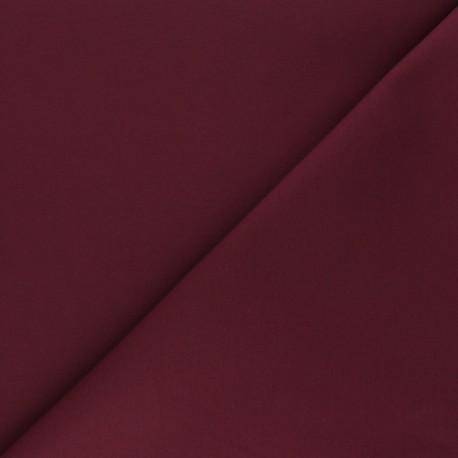 Matte elastane Gabardine fabric - burgundy x 10cm
