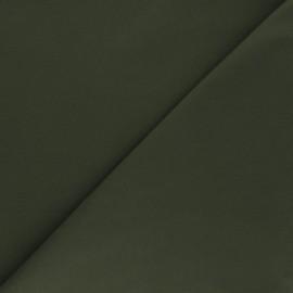 Tissu Gabardine élasthanne mat - vert kaki x 10cm