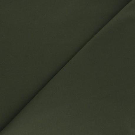 Matte elastane Gabardine fabric - khaki green x 10cm