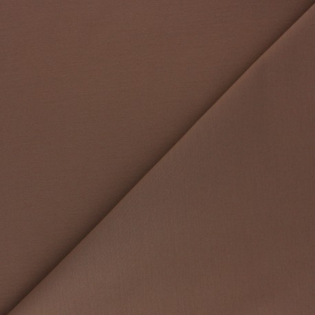 Matte elastane Gabardine fabric - tobacco x 10cm
