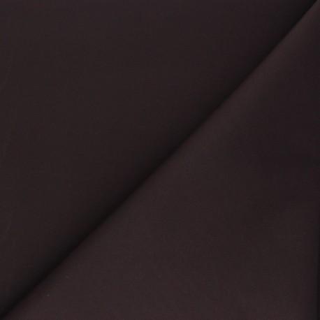 Matte elastane Gabardine fabric - chocolate x 10cm