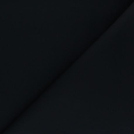 Matte elastane Gabardine fabric - black x 10cm