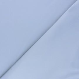 Tissu Gabardine élasthanne mat - gris perle x 10cm