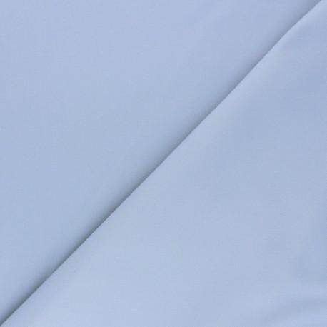 Matte elastane Gabardine fabric - pearl grey x 10cm