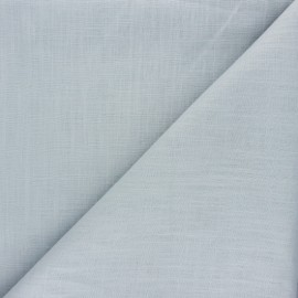 Tissu lin bleu givré x 10cm