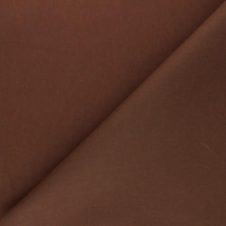 Waxed Cotton Fabric - caramel Hunter x 10cm