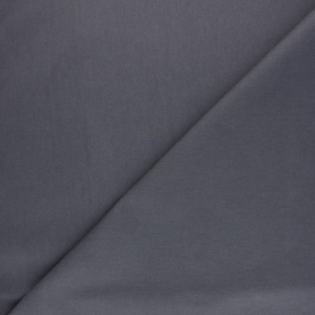 Waxed Cotton Fabric - grey Hunter x 10cm