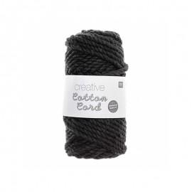 Rico design Cotton macramé cord - black
