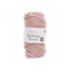 Rico design Cotton macramé cord - powder pink