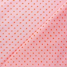 Plumetis Cotton voile Fabric - Pink/Neon Camila x 10cm