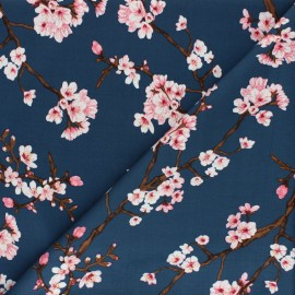 Tissu Gabardine Lycra Hanaé by Penelope - bleu marine x 10cm