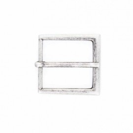 30 mm Metal Belt Buckle – old silver Astrid