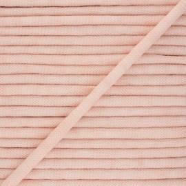 Cordon tricoté chiné (7 mm) - rose pâle x 1m