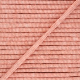 Cordon tricoté chiné (7 mm) - pêche x 1m