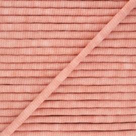 Mottled knit cord - peach x 1m