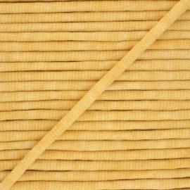 Cordon tricoté chiné (7 mm) - jaune x 1m