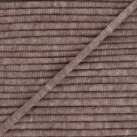 Cordon tricoté chiné (7 mm) - marron  x 1m