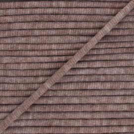 Mottled knit cord - brown x 1m