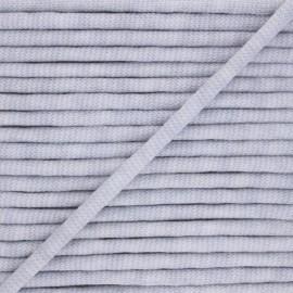 Cordon tricoté chiné (7 mm) - gris  x 1m