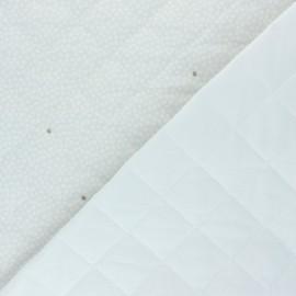 Tissu matelassé double face Lou - gris x 10cm