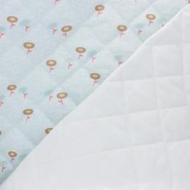 Tissu matelassé double face Florine - bleu x 10cm