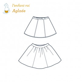 Aglaé Skirt L'Enfant Roi sewing pattern - From 2 to 14 years old