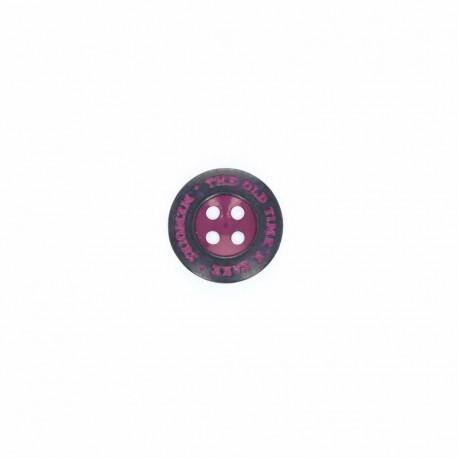 """Metal button, """"memoirs"""" - dark purple"""