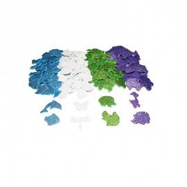 Glittery Foam Shapes (200 pcs) - Animals