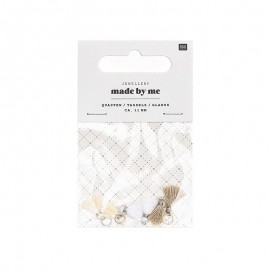Set de 6 mini glands 11mm - White Mix