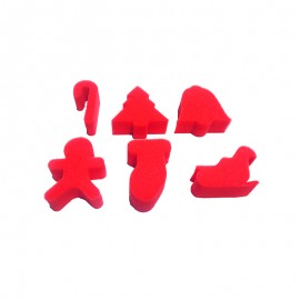 Sponge Stamp (Pack or 6) - Christmas