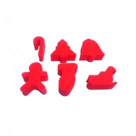 Tampon éponge (Pack de 6) - Noël