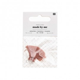 Set de 2 glands 22mm Rico Design - Bois de rose