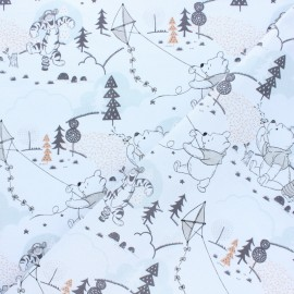 Tissu coton cretonne Winnie l'ourson - écru x 10cm