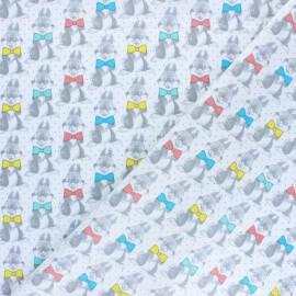 Tissu coton cretonne Panpan le lapin - blanc x 10cm