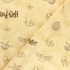 Harry Potter cotton fabric - Black Logo x 10cm