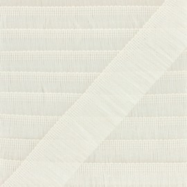 Fringe Braid Trimming - white Saturday night fever x 1m