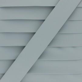 Matte Faux Leather Bias Binding - light grey Tilla x 1m